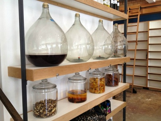 Large demi-johns will be filled with infused oils and house-made vinegars. - ANNA ROTH