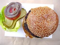 JOHN BIRDSALL - Lark Creek Steak's deliciously minimal steakburger.