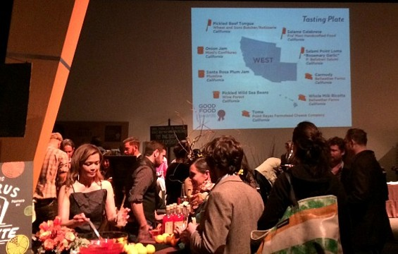 Last night's reception had tasting plates with winners from around the country. - ANNA ROTH