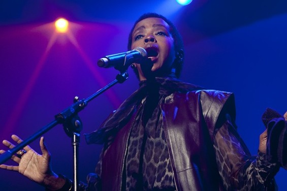 Lauryn Hill at the Fox Oakland last night. Slideshow: Lauryn Hill & Nas in Oakland. - CHRISTOPHER VICTORIO