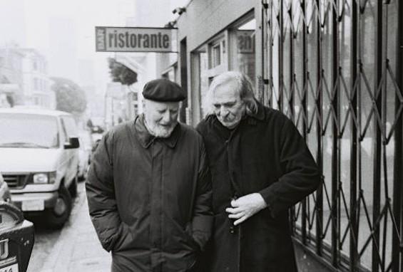 Lawrence Ferlinghetti and Jack Hirschman