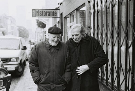 Lawrence Ferlinghetti and Jack Hirschman