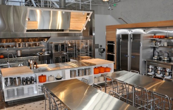 Learn some new techniques at SFCS's new state-of-the-art teaching kitchen. - SAN FRANCISCO COOKING SCHOOL