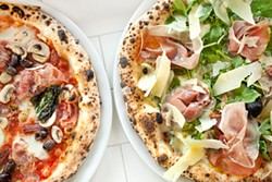 LARA HATA - Left: Capricciosa, Right: Italia