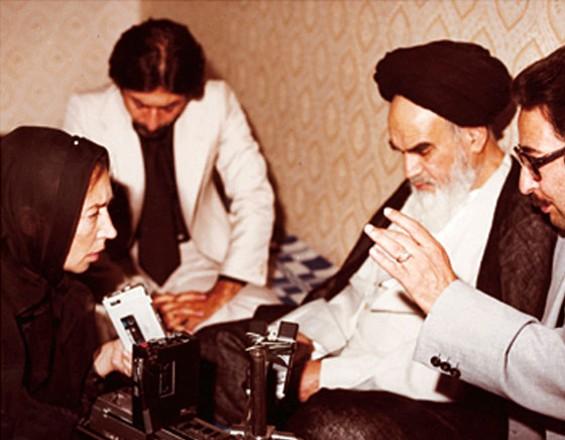 Legendary Italian journalist Oriana Fallaci interviewing the Ayatollah Komeini in 1979 - PHOTO COURTESY OF EDOARDO PERAZZI / FALLACI PRIVATE COLLECTIONS