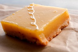 GIL RIEGO JR. - Lemon bar from Pinkie's Bakery, part of SFoodie's One Love bake sale.
