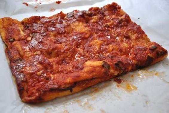 Liguria Bakery's pizza focaccia. - IANN IVY
