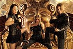DARREN  MICHAELS - Little Devils: Lucy Liu, Cameron Diaz, and - Drew Barrymore know kung fu.