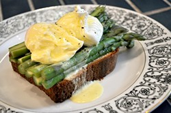 IANN IVY - Local: Mission Eatery's asparagus sandwich.