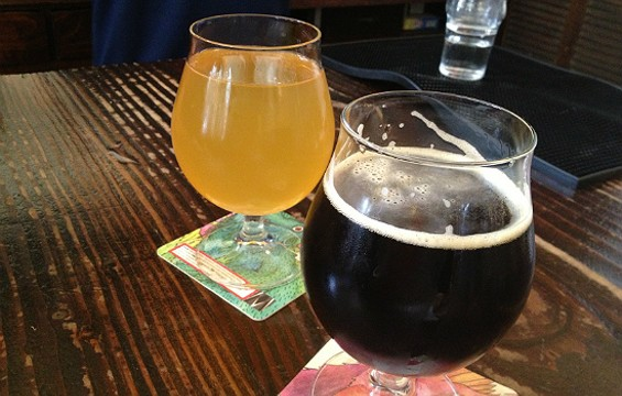 Local pumpkin ale and cider at Magnolia Brewing. - CHRISTINA SPITTLER