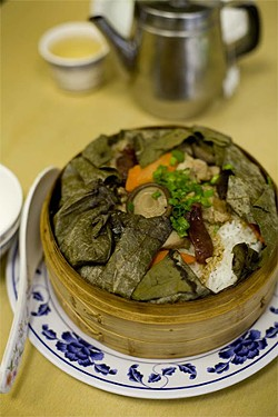 JEN SISKA - Look inside the steamer and under the lotus leaf to find a delicate dish.