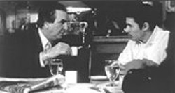 Louis Cropa (Aiello) hashes it out with his hot-tempered son Udo (Ballerini; right) and mobsters Paolo (Alex Corrado) and Carmen  (Mike McGlone; below) in Bob Giraldi's Dinner Rush.