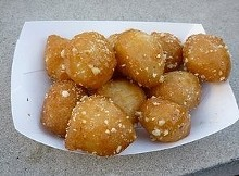 Loukoumathes, fried dough balls drizzled with Greek honey. - ALEX HOCHMAN