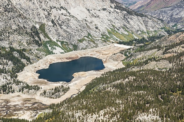 Low water in a California reservoir - SHUTTERSTOCK.COM