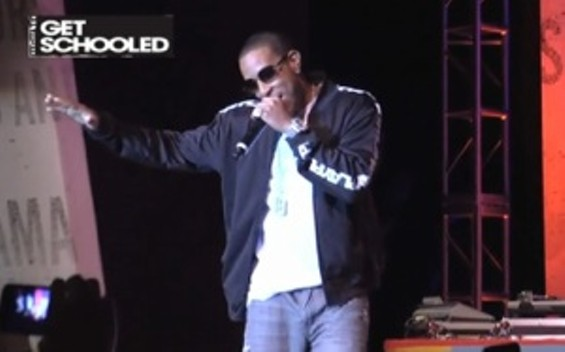 Ludacris at Thurgood Marshall High School in S.F.