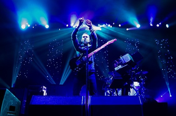 M83 at Not So Silent Night on Saturday. Slideshow: Not So Silent Night 2012 photos - GIL RIEGO, JR.
