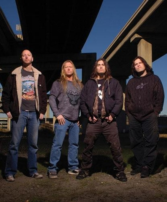 Machine Head, with Flynn second from right - ALEX SOLCA
