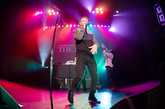 Macklemore and Ryan Lewis at the Regency Ballroom last night. See our full slideshow from the concert here.  - GIL RIEGO, JR.