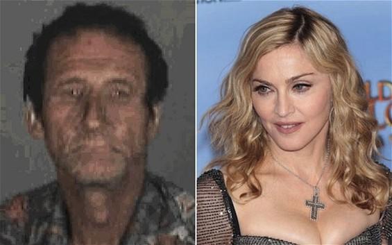 Madonna and stalker Robert Dewey Hoskins
