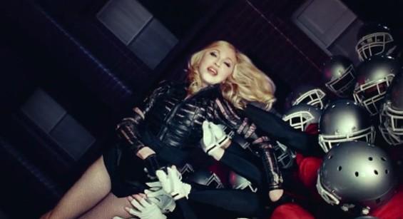 Madonna, ridin' high.