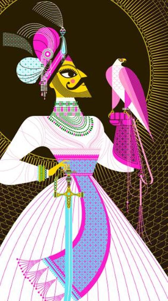 Maharaja with Falcon - SANJAY PATEL