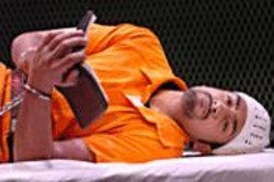 DAVID  ALLEN - Man in a Cage: Nafees Hamid as Rhuhel Ahmed, - Guantnamo detainee.