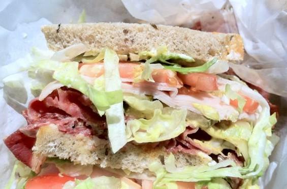 M&L's turkey and pastrami sandwich. - JONATHAN KAUFFMAN