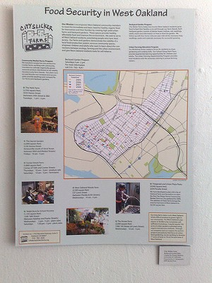 Map of community gardens and urban farmland in West Oakland. - ALLABOUTGEORGE/FLICKR