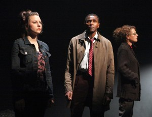 "Marissa Keltie, Carl Lumbly, and Stacy Ross in the first American production of Mark O'Rowe's ""Terminus"" at Magic Theatre. - PHOTO: JENNIFER REILEY"