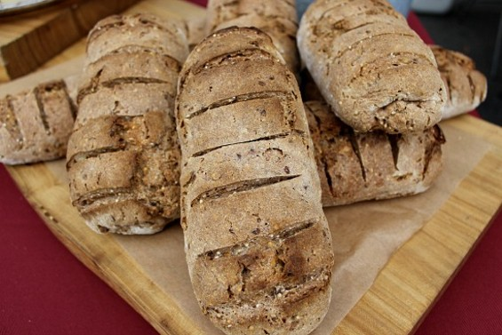 Marla Bakery's seeded rye bread. - ALEXIS KATSILOMETES