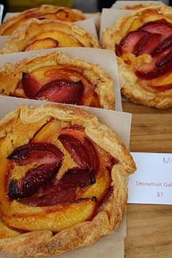 ALEXIS KATSILOMETES - Marla Bakery's stone fruit galettes.