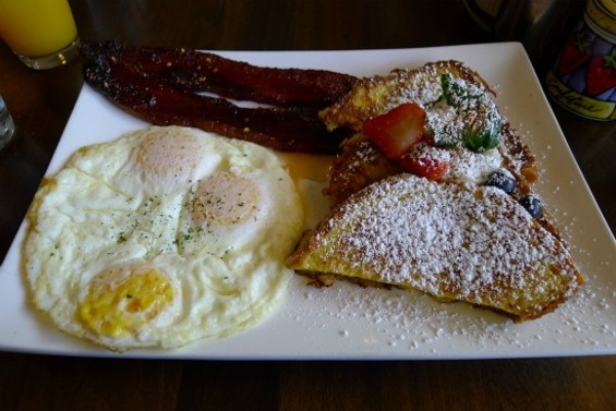 Marnier French toast meal