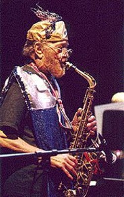 Marshall Allen, current - leader of the - Arkestra.