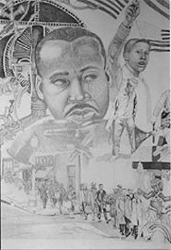 Martin Luther King-inspired works by Ronnie Goodman will be on display at Javalencia Cafe.