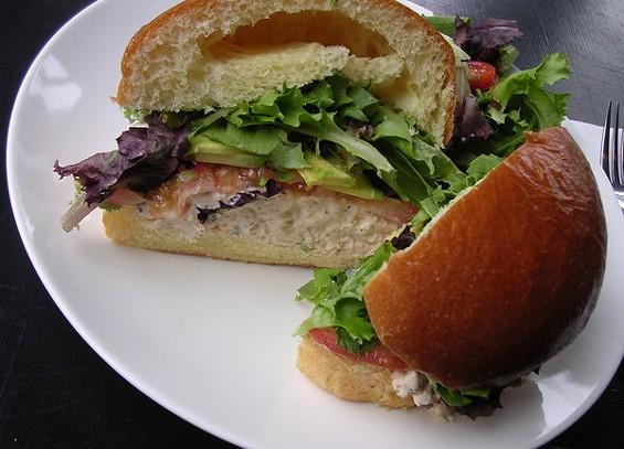 Maryland chicken salad sandwich on brioche bun ($7.50). - JOHN BIRDSALL