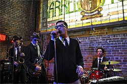 KATY HUNTER - Mayer Hawthorne performs a secret show at the Barrel House.