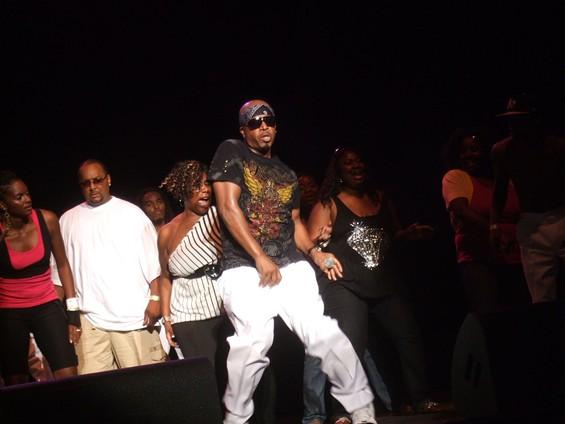 MC Hammer at KBLX's Stone Soul II. - TAMARA PALMER
