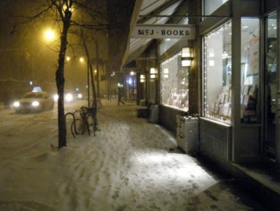 McNally Jackson during winter in New York City.