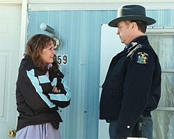 Melissa Leo plays a working-class woman made harsh by harsh living.