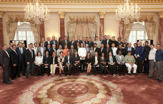 Members of the American Chef Corps, sans chef's whites. - U.S. DEPARTMENT OF STATE