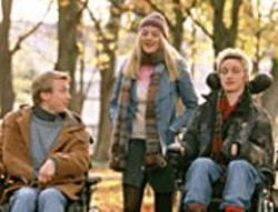 PAT  REDMOND - Men, Interrupted: Rory (James McAvoy, - right) brings Michael (Steven Robertson) - and Sioban (Romola Garai) along for a wild - ride.