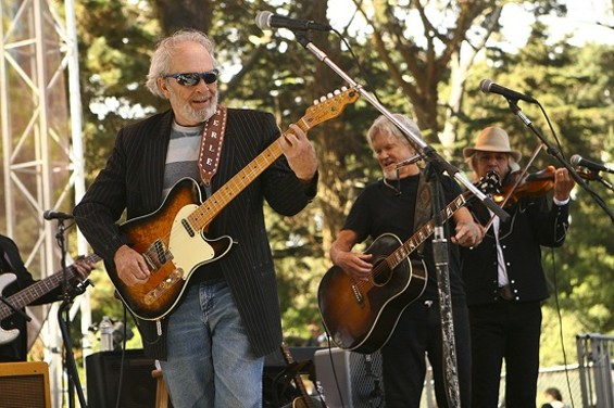 Merle Haggard and Kris Kristofferson at Hardly Strictly Bluegrass - CHRISTOPHER VICTORIO