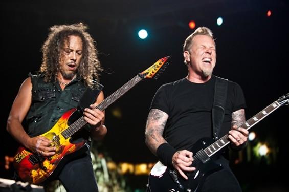 Metallica at the Big Four fest - RICHARD HAICK