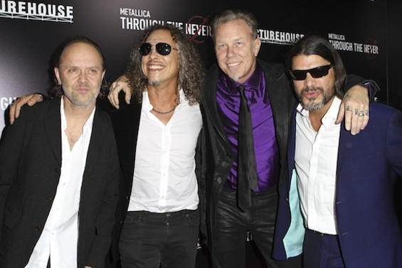 Metallica at the S.F. premiere of Through The Never - CHRISTOPHER VICTORIO