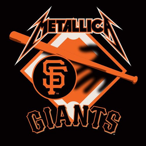 Metallica posted this to their Instagram account in celebration of the Giants' win - INSTAGRAM