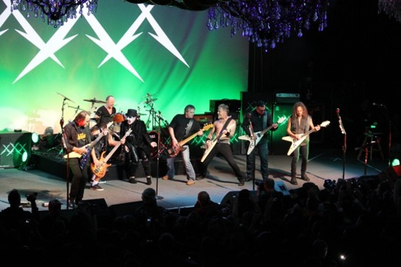 Metallica with Mercyful Fate at the FIllmore Wednesday night. - JEFF YEAGER