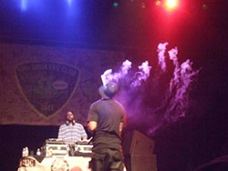 Method Man smokes the world's largest joint.