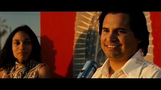 Michael Pena as Cesar Chavez with Rosario Dawson as Dolores Huerta - PANTELION FILMS