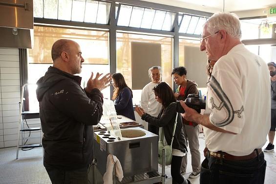 Michael Recchiuti inside the forthcoming Chocolate Lab. - TOM SEAWELL PHOTOGRAPHY