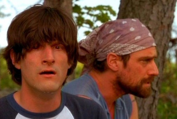 Michael Showalter and Christopher Meloni in Wet Hot American Summer